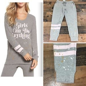 Chaser $149 Sweatshirt & Pants Outfit Set Small